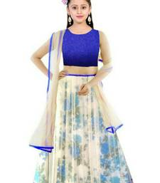 Buy Blue bhaglpury semi stitched lehenga with dupatta14-15 years girls kids-lehenga-choli online