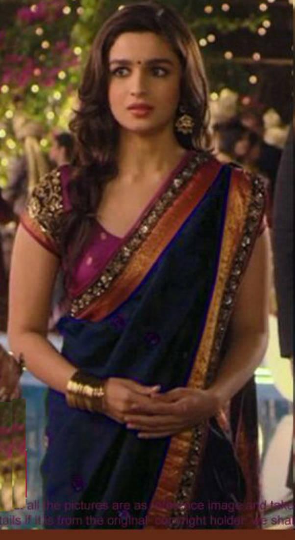 Buy Alia Bhatt Indian Traditional Bollywood Saree