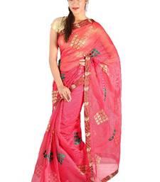 Buy Designer supernet embroidery saree cotton-saree online
