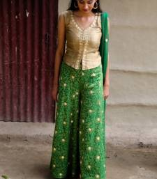 Buy Hand embroidered palazzos and blouses palazzo-pant online
