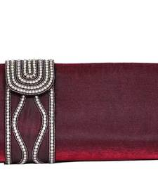 Buy Sultry Designer Clutch in Maroon clutch online