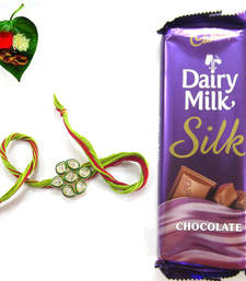 Flaunting AD Kundan RakhiiMedium Chocolate Pack   shop online