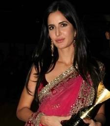 Buy katrina in pink apsara award katrina-kaif-saree online