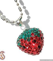 Red Strawberry Swarovski Crystal Pendant shop online