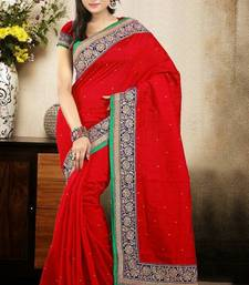 Buy Dazzling Maroon Color Bhagalpuri Silk Saree with Blouse bhagalpuri-silk-saree online