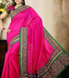 Buy Dazzling Magenta Color Bhagalpuri Silk Saree with Blouse bhagalpuri-silk-saree online