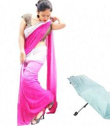 Buy Pink printed georgette saree printed-saree online
