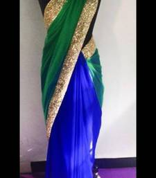 Buy Green Blue Saree net-saree online