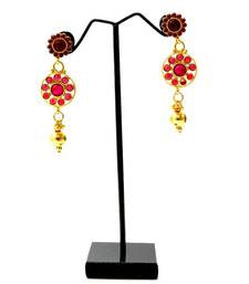 Buy Traditional Stone Necklace & Earring - Red necklace-set online