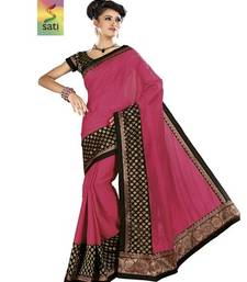Buy Sati Pink Benarasi Cotton Saree cotton-saree online