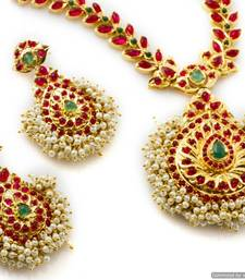 Buy Alankruthi Authentic Indian Necklace Collection 21 necklace-set online
