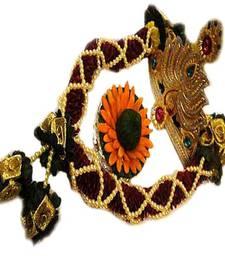 Buy Pearl Ganesh Garland Hamper with Crown and Pooja Modak pearlganeshgarland ganesh-chaturthi-gift online