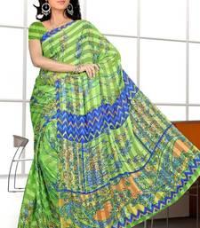 Buy Saraswati Printed satin patti Saree printed-saree online