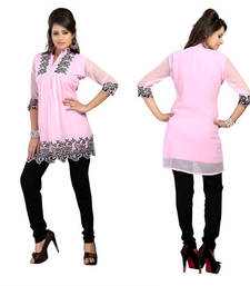 Buy Hypnotex Pink Georgette Kurtis Alesia4F kurtas-and-kurti online