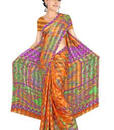 Buy Saraswati Printed satin patti 3042 printed-saree online