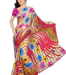 Buy Sweety Embroidery satin patti printed-saree online
