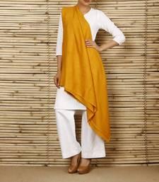 Buy Mustard woolen Shawl shawl online