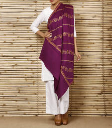 Buy Pashmina Blend Shawl with full hand embroidery shawl online