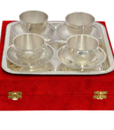 Buy silver plated tea cup decorative plates eid-gift online