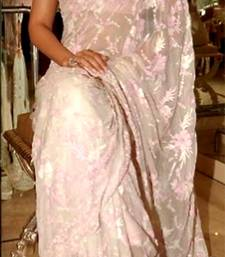 Buy Indian Replica Ethnic Sonam Pink Net Saree sonam-kapoor-saree online