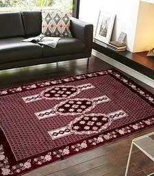 Buy Maroon Chenille Carpet Traditional carpet online