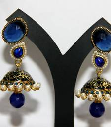 Buy BEAUTIFUL BLUE MEENAKARI JHUMKA jhumka online