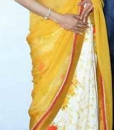 Buy Bollywood Style saree Replica sridevi manish malhotra yellow stylish sari sridevi-saree online