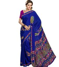 Buy Riti Riwaz raw silk  saree with unstitched blouse silk-saree online