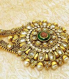 Buy Designer Jewelry Jhoomar Passa Hair Accessories Diwali,Navratri,WeddingGift-135W hair-accessory online