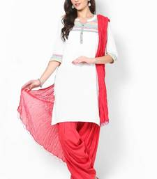 Red Solid Patiala Salwar With Dupatta - PAT7 shop online