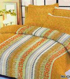 Buy Aria 100% cotton double brown printed bedsheet 2213 bed-sheet online