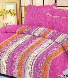 Buy Aria 100% cotton double blue printed bedsheet  2213 bed-sheet online