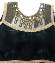Buy Black Banglore Silk Mirror stitched blouse readymade-blouse online