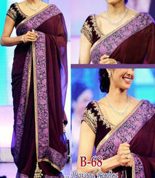 Buy Sridevi Bollywood Dark Maroon Saree sridevi-saree online