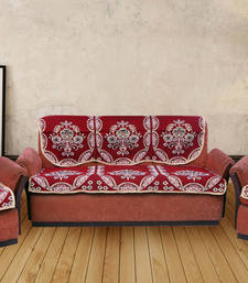 Buy MULTICOLOR COTTON RICH 5 SEATER SOFA COVER other-home-furnishing online