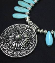Buy Turquoise and German Silver Necklace Necklace online