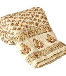 Buy Jaipuri Ethnic Print Cotton Single Bed Quilt bed-sheet online