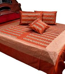 Buy Banarasi Bed Cover with 4 pillow cover bed-sheet online
