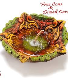 Buy Traditional Gel filled Big Diya Diwali gifts Diwali silver coin diwali-decoration online
