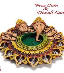 Buy Designer Urli Diwali Diya Thaali diwali-decoration online