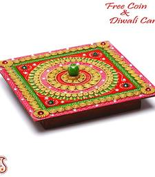 Buy Diwali gifts Hand Crafted Multipurpose Box with clay and wood diwali-decoration online