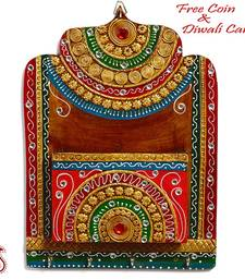 Buy Wood and Clay Art Wall Hanging Letter Holder diwali-decoration online