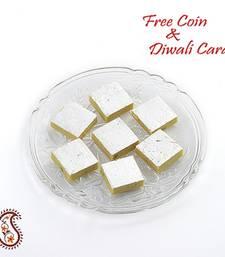 Buy Kajoo Kesar Katli with Free Laxmi Ganesh Coin diwali-sweet online