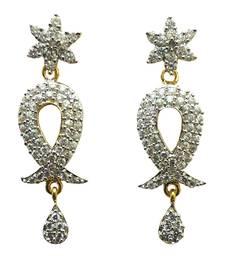 Buy Vatika designer american diamond earring danglers-drop online