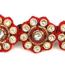 Buy Red buttis ethnic centre clip hair-accessory online