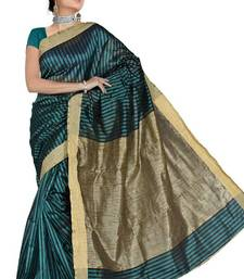 Buy KHICHA PATTI SAREE - RAMA cotton-saree online