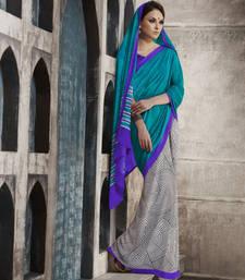 Buy Trendy Blue Georgette Saree georgette-saree online