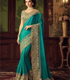 Buy green sequins_work georgette saree with blouse georgette-saree online