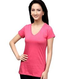 Buy V Neck : Relaxed Fit : Bright Pink top online