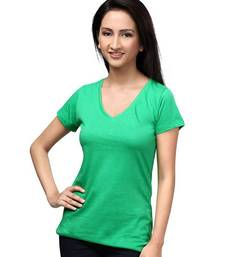 Buy V Neck : relaxed Fit : Green top online